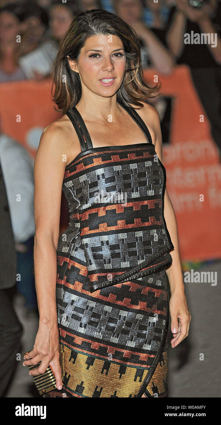 Actress Marisa Tomei arrives for the world premiere gala screening of 'Ides of March' at Roy Thomson Hall during the Toronto International Film Festival in Toronto, Canada on September 9, 2011.  UPI/Christine Chew Stock Photo