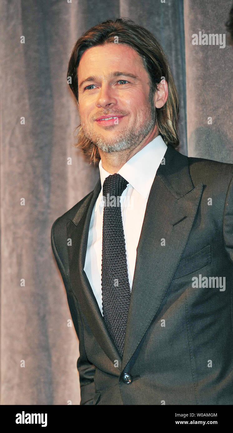 Actor Brad Pitt attends the world premiere gala screening of 'Moneyball' at Roy Thomson Hall during the Toronto International Film Festival in Toronto, Canada on September 9, 2011.  UPI/Christine Chew Stock Photo