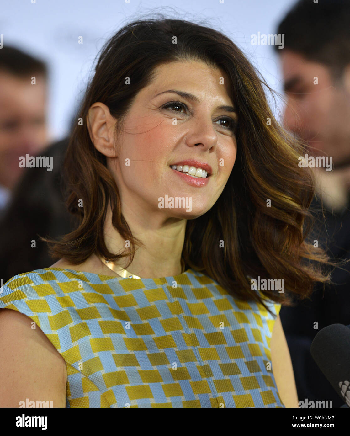 Marisa Tomei arrives for the world premiere gala screening of 'Inescapable' at Roy Thomson Hall during the Toronto International Film Festival in Toronto, Canada on September 11, 2012.  UPI/Christine Chew - Stock Image
