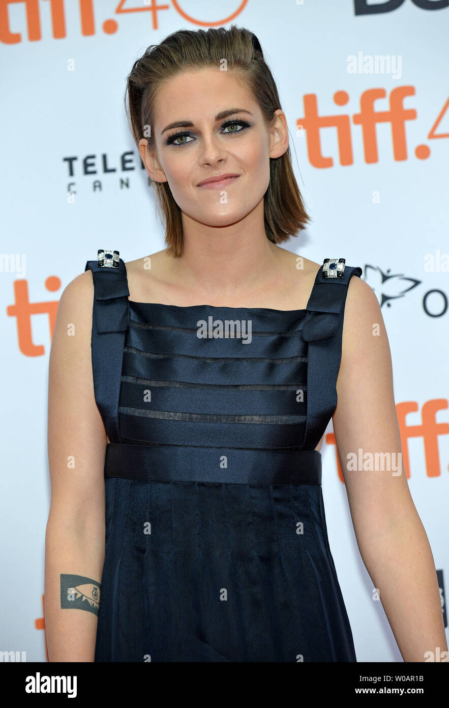 Kristen Stewart arrives at the Toronto International Film Festival premiere of 'Equals' at the Princess of Wales theatre in Toronto, Canada on September 13, 2015. Photo by Christine Chew/UPI Stock Photo