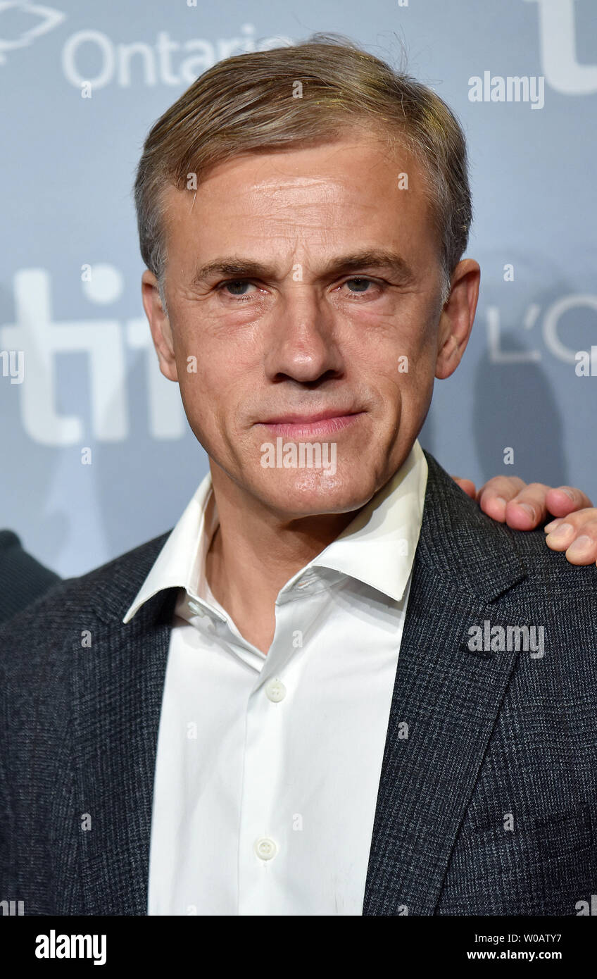 Christoph Waltz attends the Toronto International Film Festival photocall for 'Downsizing' at TIFF Bell Lightbox in Toronto, Canada on September 10, 2017. Photo by Christine Chew/UPI - Stock Image