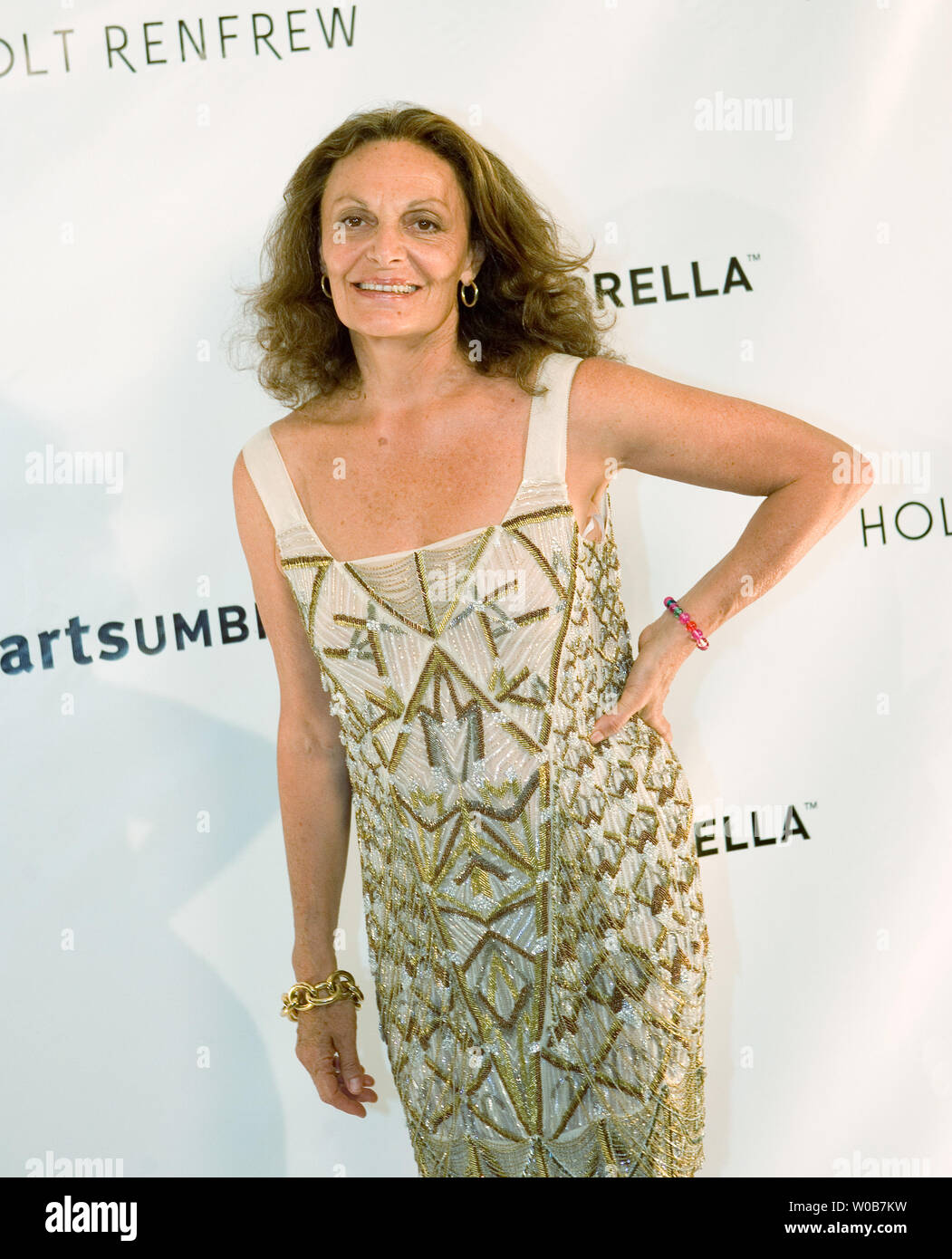 Fashion Designer Diane Von Furstenberg Walks Onstage Before The Start Of Her Fall 2008 Diane Von Furstenberg Fashion Show At The Holt Renfrew Arts Umbrella Benefit In Vancouver British Columbia May 6