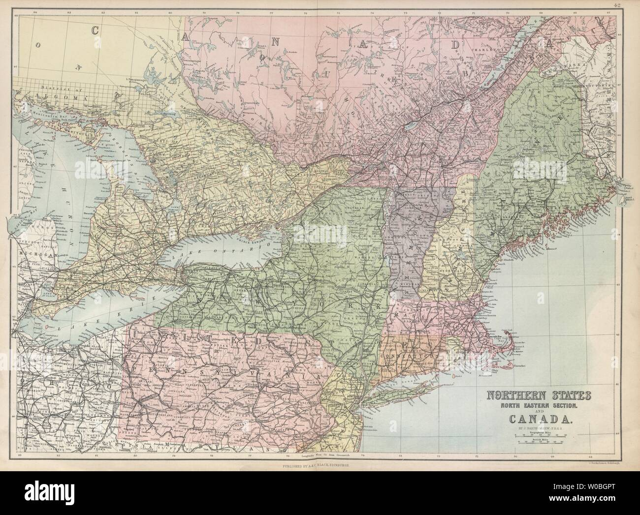 North East USA & Canada. Great Lakes. New England NY PA ...