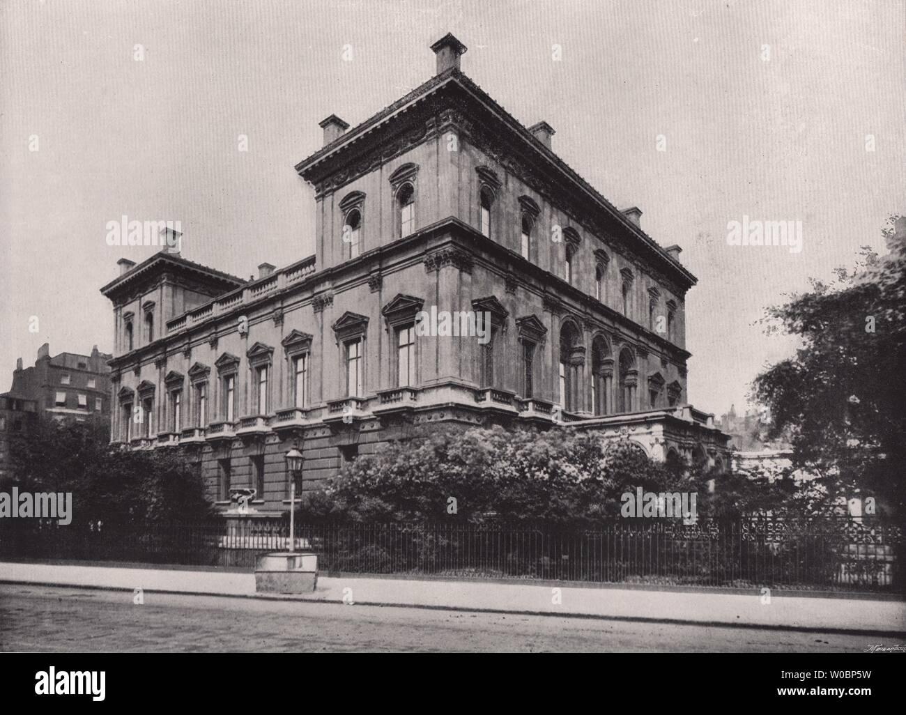 Park Lane Dorchester House London 1896 Old Antique Vintage Print Picture Stock Photo Alamy