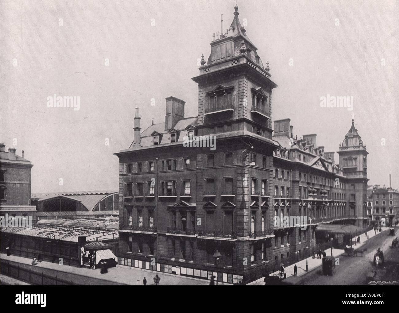 1896 Print over 120 years old Knightsbridge Barracks London x