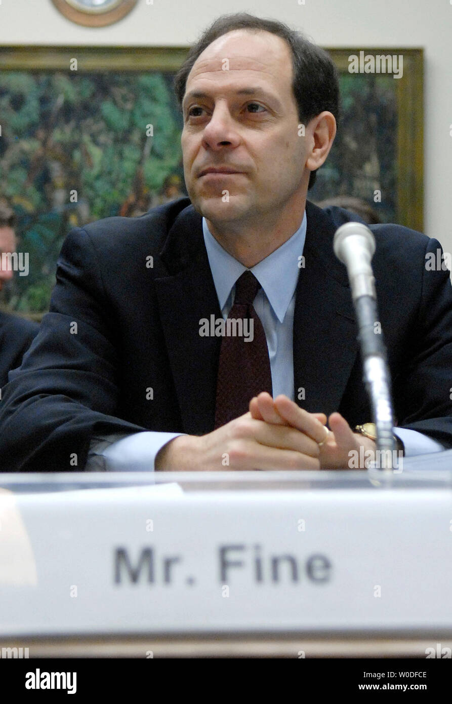 Inspector General of the Department of Justice Glenn Fine waits to