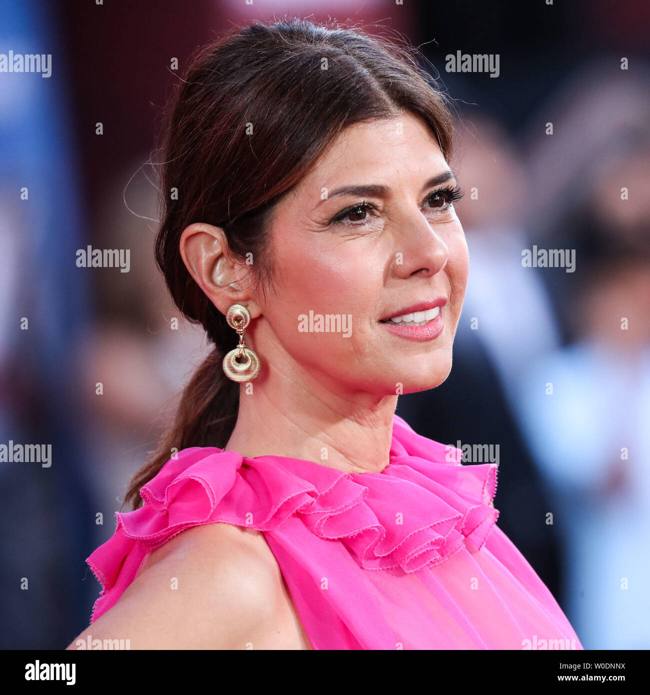 Hollywood, United States. 26th June, 2019. HOLLYWOOD, LOS ANGELES, CALIFORNIA, USA - JUNE 26: Actress Marisa Tomei wearing Valentino arrives at the Los Angeles Premiere Of Sony Pictures' 'Spider-Man Far From Home' held at the TCL Chinese Theatre IMAX on June 26, 2019 in Hollywood, Los Angeles, California, United States. (Photo by Xavier Collin/Image Press Agency) Credit: Image Press Agency/Alamy Live News - Stock Image