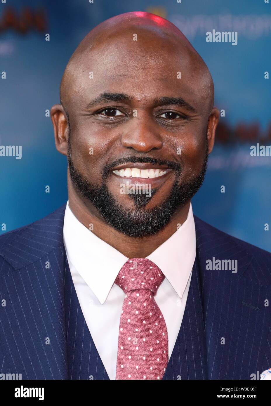 Hollywood, United States. 26th June, 2019. HOLLYWOOD, LOS ANGELES, CALIFORNIA, USA - JUNE 26: Wayne Brady arrives at the Premiere Of Sony Pictures' 'Spider-Man Far From Home' held at the TCL Chinese Theatre IMAX on June 26, 2019 in Hollywood, Los Angeles, California, United States. (Photo by David Acosta/Image Press Agency) Credit: Image Press Agency/Alamy Live News Stock Photo