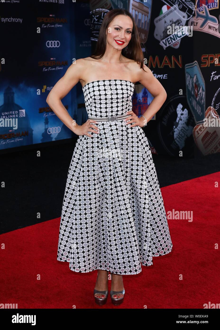 Hollywood, United States. 26th June, 2019. HOLLYWOOD, LOS ANGELES, CALIFORNIA, USA - JUNE 26: Karina Smirnoff arrives at the Premiere Of Sony Pictures' 'Spider-Man Far From Home' held at the TCL Chinese Theatre IMAX on June 26, 2019 in Hollywood, Los Angeles, California, United States. (Photo by David Acosta/Image Press Agency) Credit: Image Press Agency/Alamy Live News Stock Photo