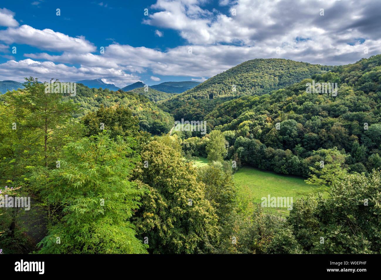France, Piedmont of the Pyrenees, Haute Garonne, Saint Bertrand de Comminges, (Most Beautiful Village in France) Saint James way, (UNESCO World Heritage) - Stock Image