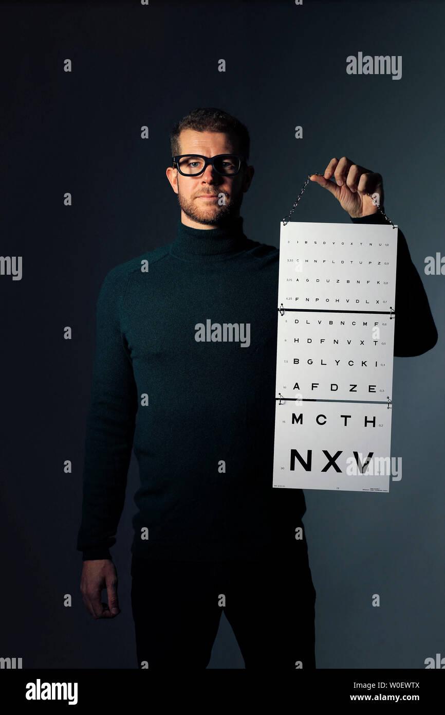 Test visual acuity Stock Photo