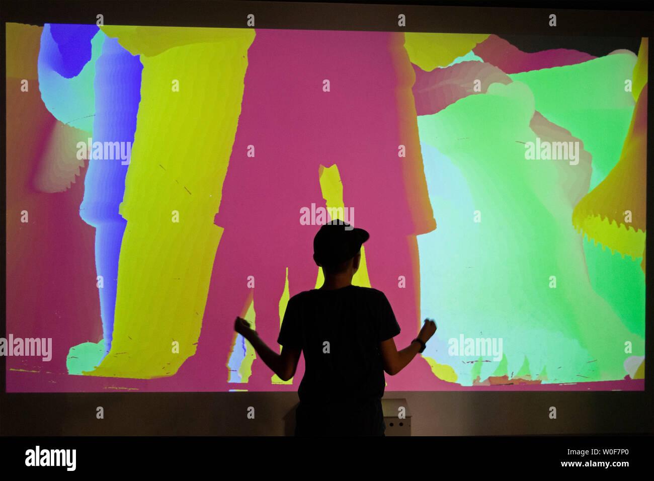 screen, Universum, Bremen, Germany - Stock Image