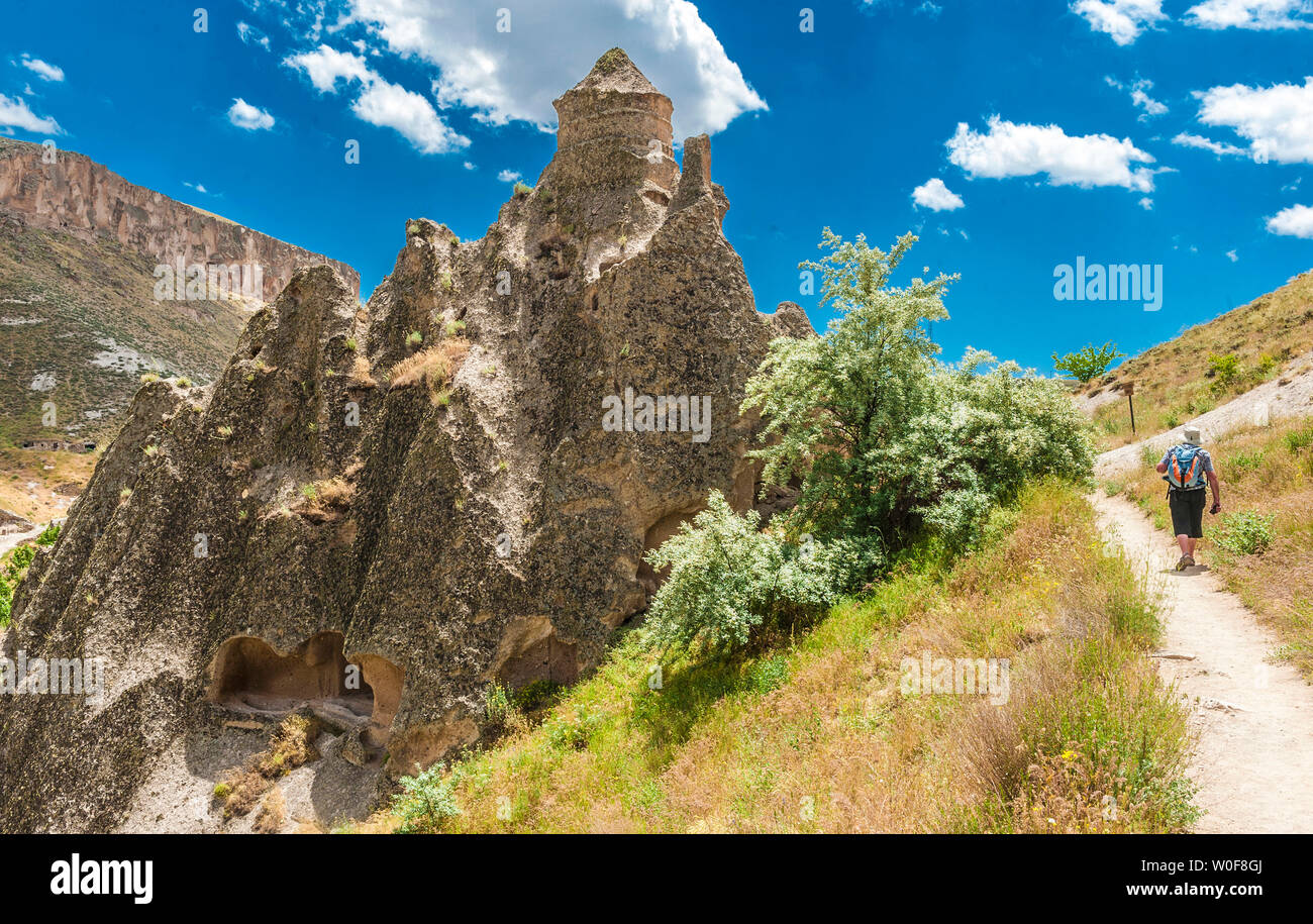 Turkey, Goreme National park and the rock sites of Cappadocia, former troglodyte church of the Dome of the Soganli valley (10th century) close to Urgup (UNESCO World Heritage) - Stock Image