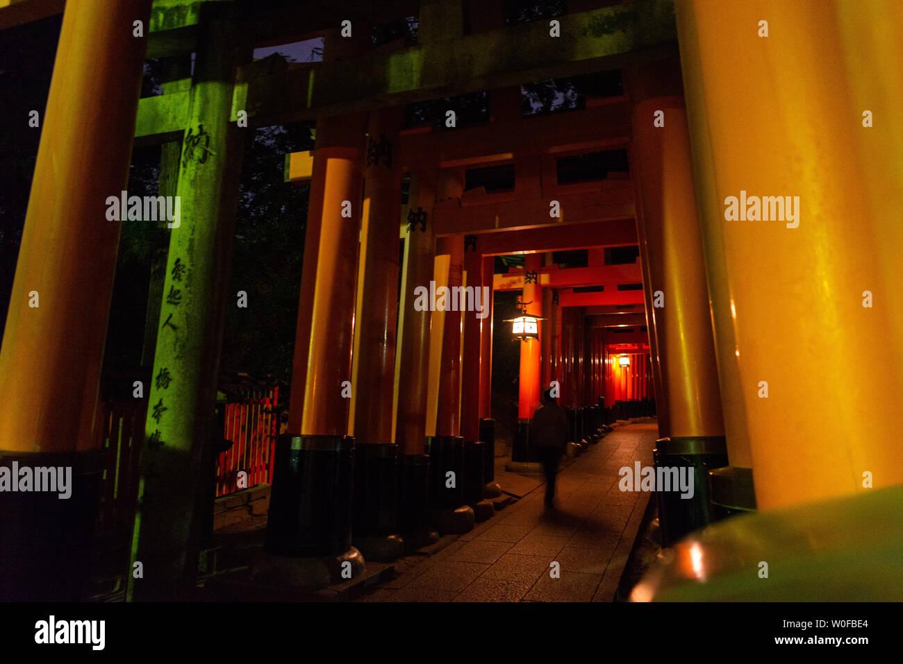 Fushimi Inari taisha, Kyoto, Kansai, Honshu, Japan. Tori. - Stock Image