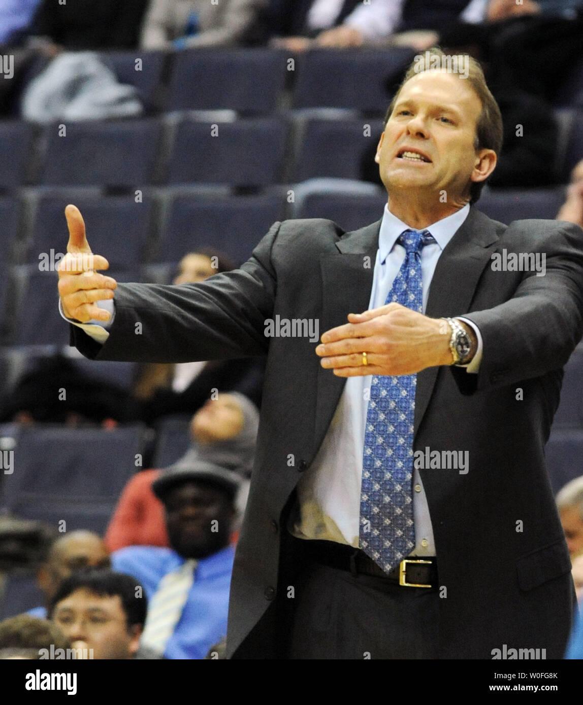 Minnesota Timberwolves Head Coach Kurt Rambis Calls To His Team As