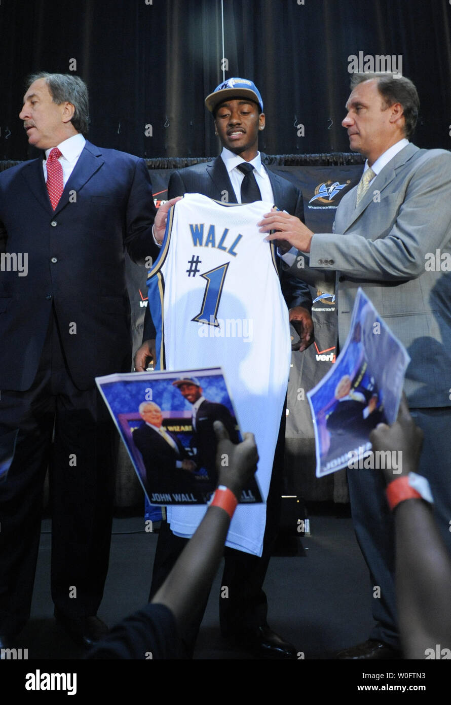 John Wall (C), the NBA #1 draft pick by ...