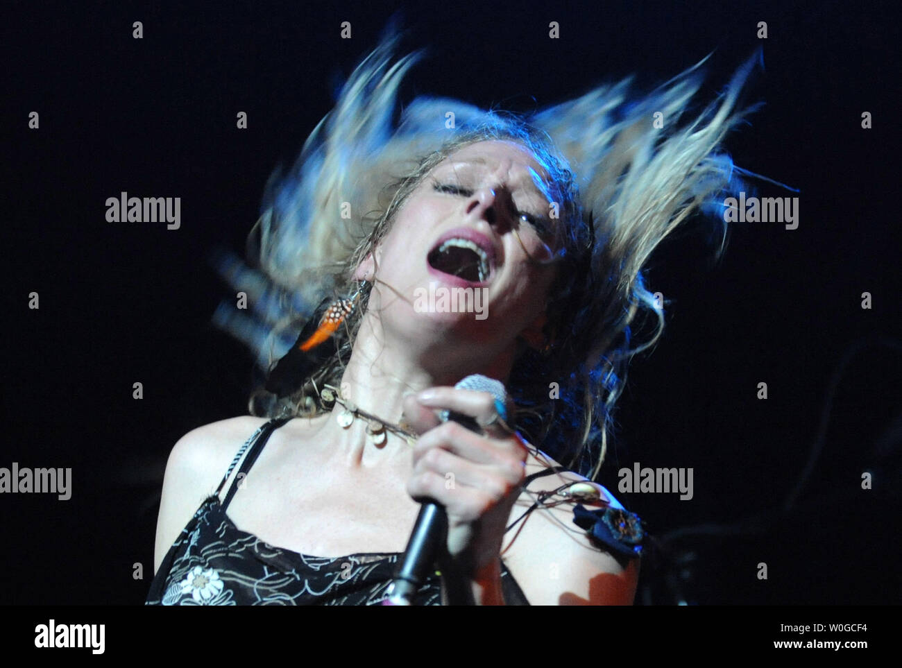 Lead singer Shannon Conley of the rock group Lez Zeppelin