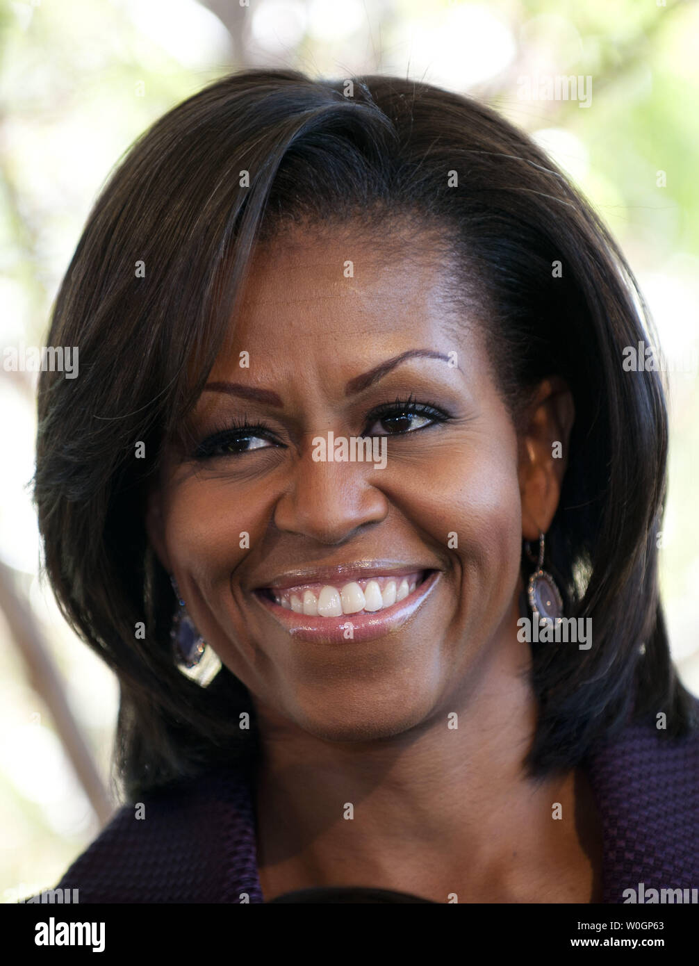 First Lady Michelle Obama delivers remarks at an event celebrating