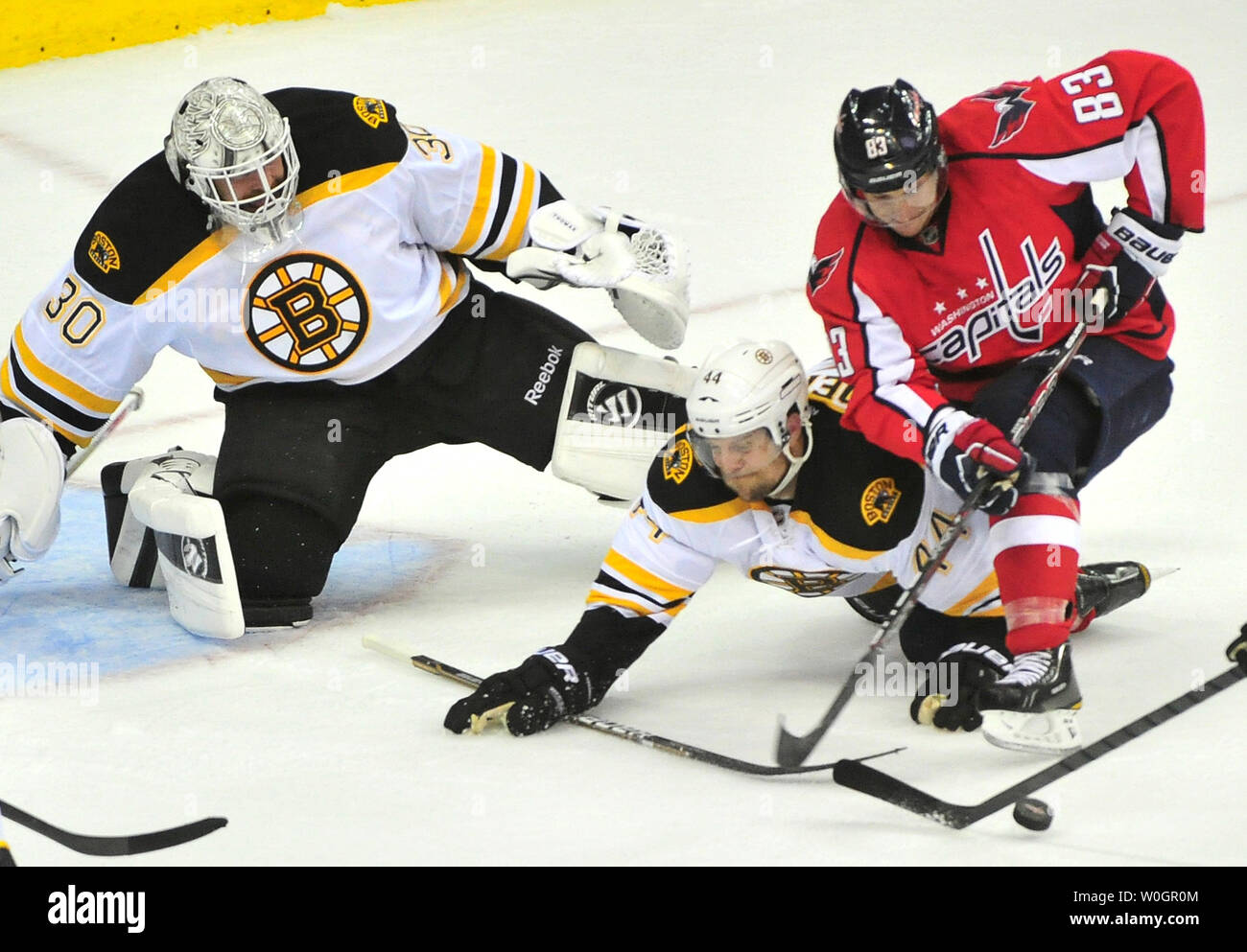 online retailer 38de9 b5dca Washington Capitals Jay Beagle is stopped by Boston Bruins ...
