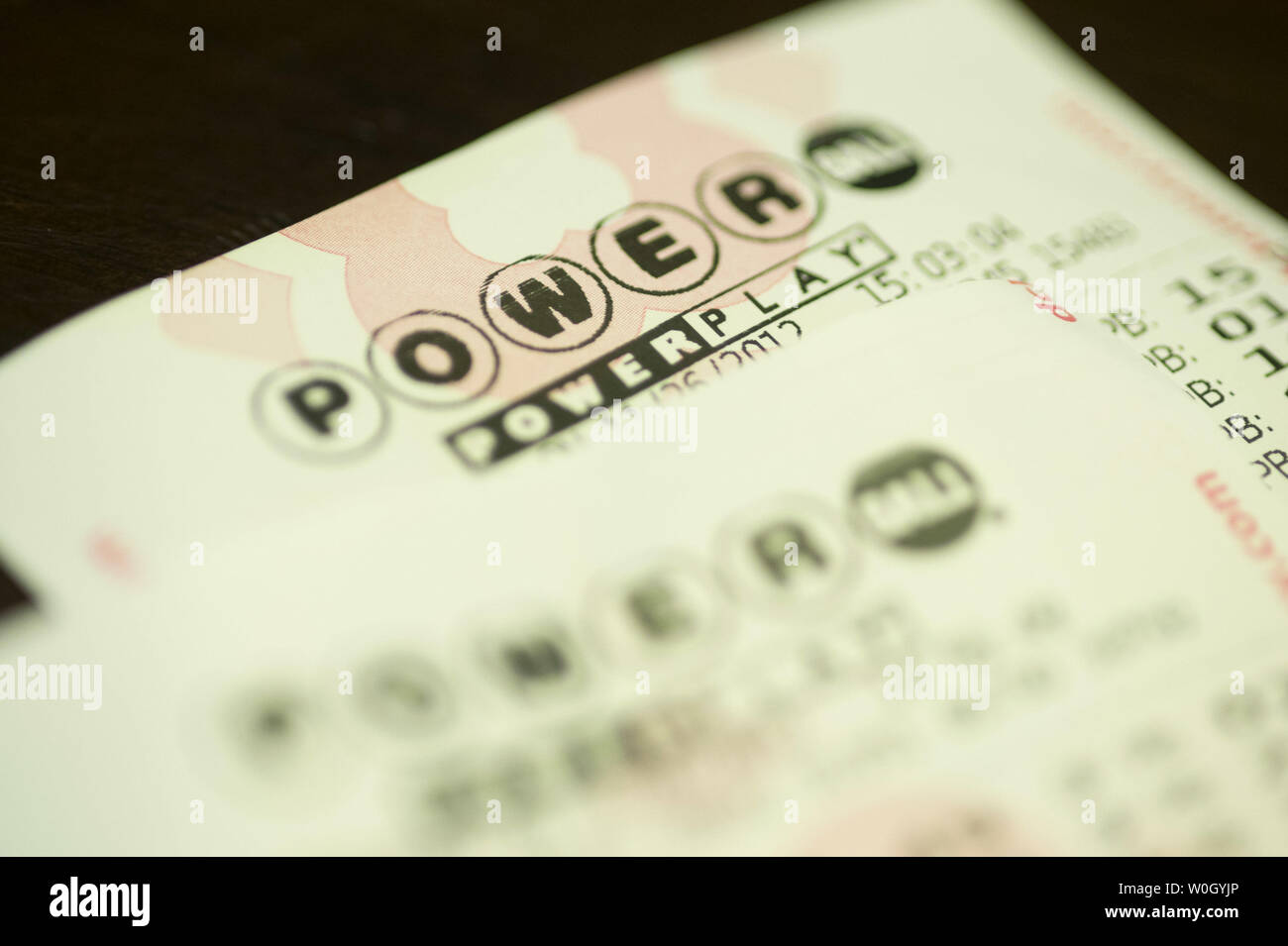 Power Ball lottery tickets is seen in Washington, DC on