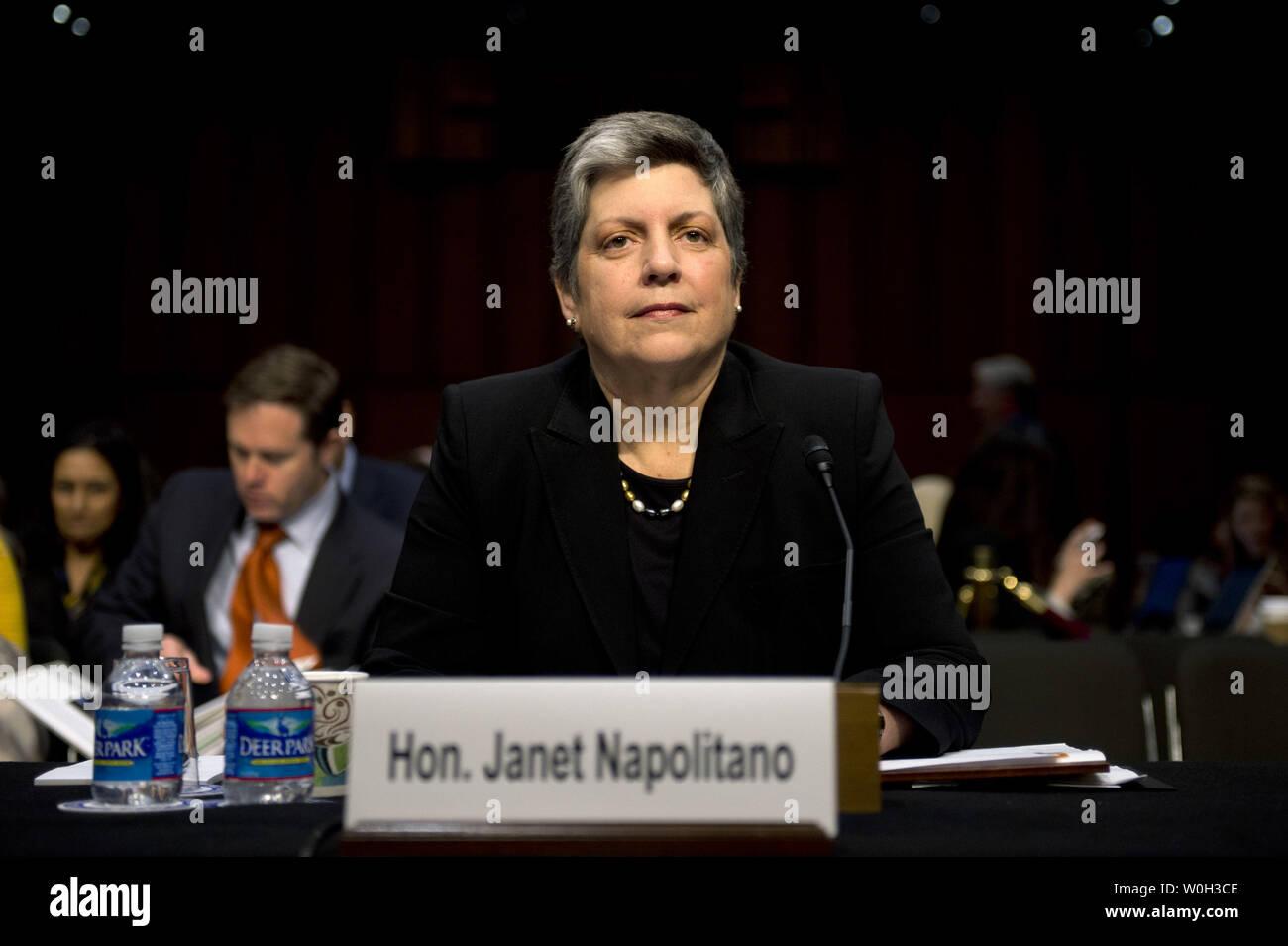 Homeland Security Secretary Janet Napolitano testifies