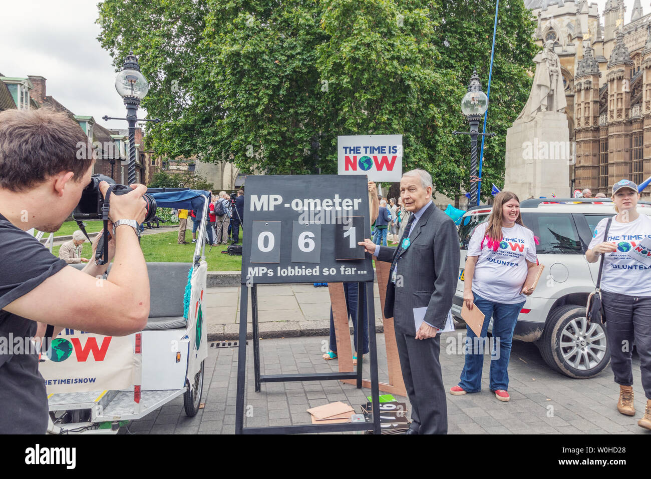 London / UK - June 26th 2019 - Frank Field Member of Parliament at the Climate Coalition 'Time is Now' event to lobby MPs for action on climate change Stock Photo