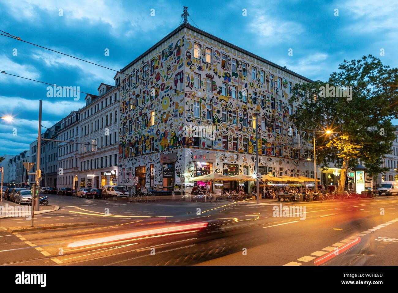 Fischer-Art-Haus, La Boum Cocktailbar, Karl Liebknechstrasse, Leipzig - Stock Image