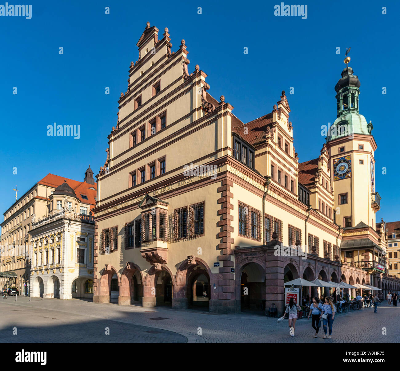 altes Rathaus, Leipzig, Sachsen, Ostdeutschland, |old town hall in Leipzig, Germany - Stock Image