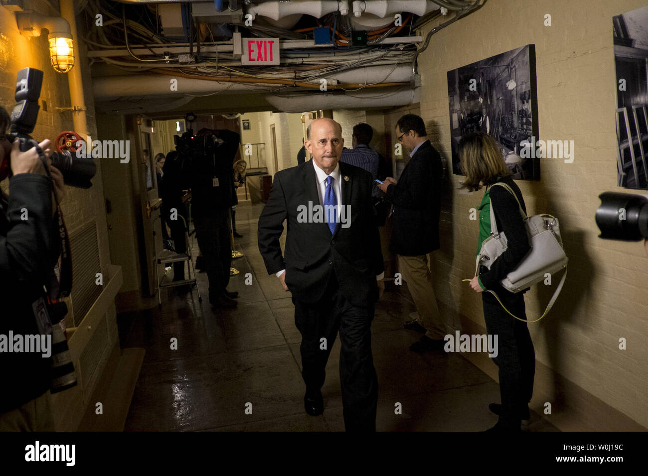 Rep. Louie Gohmert (R-TZ) leaves a GOP Conference Candidates forum for the election of the new Speaker of the House on October 28, 2015 in Washington, D.C. The Republicans are selecting a candidate for Speaker that will replace John Boehner (R-OH) when he retires on October 30. Photo by Pete Marovich/UPI - Stock Image