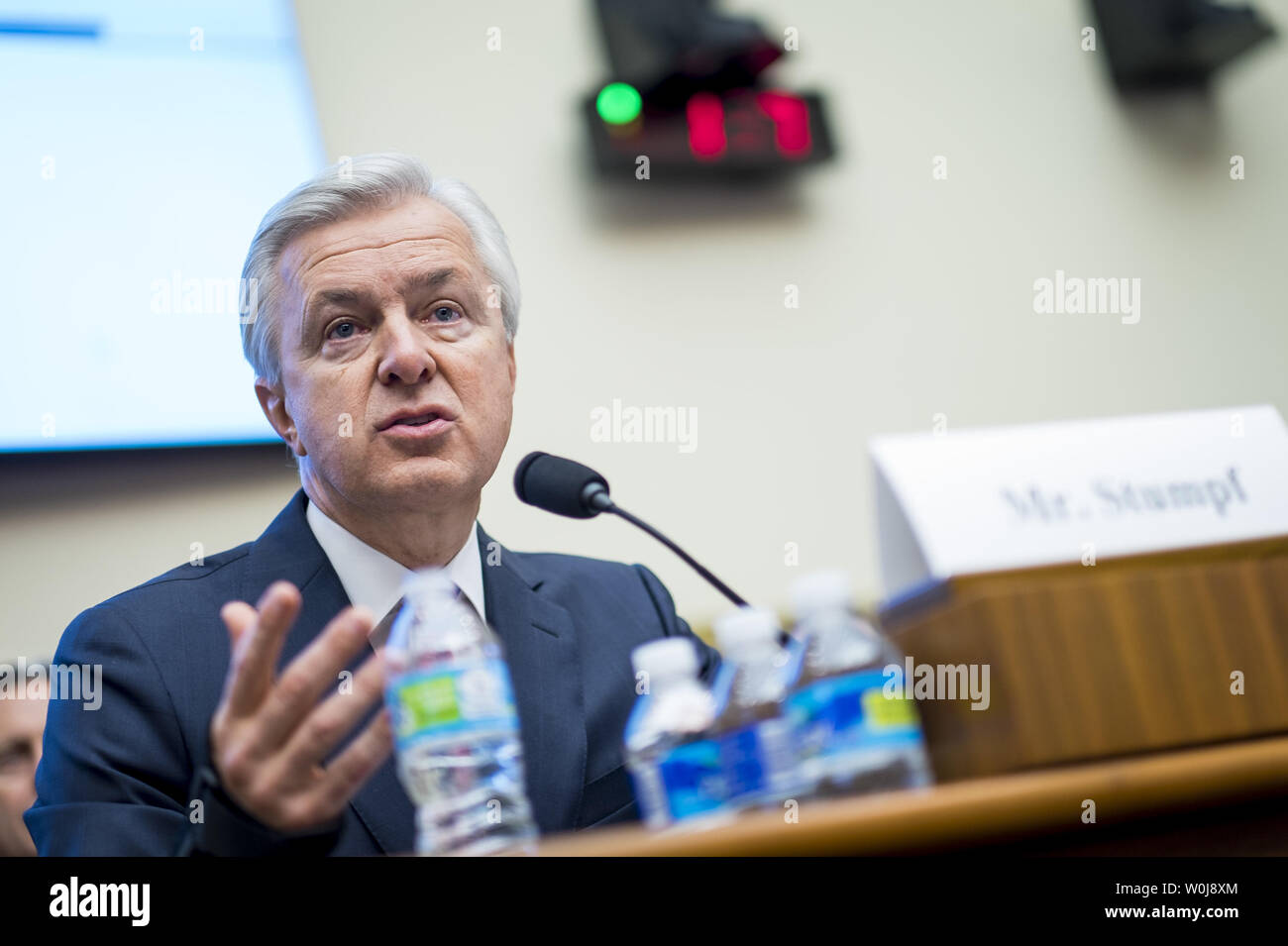 John Stumpf, chairman and CEO of Wells Fargo & Company, testifies