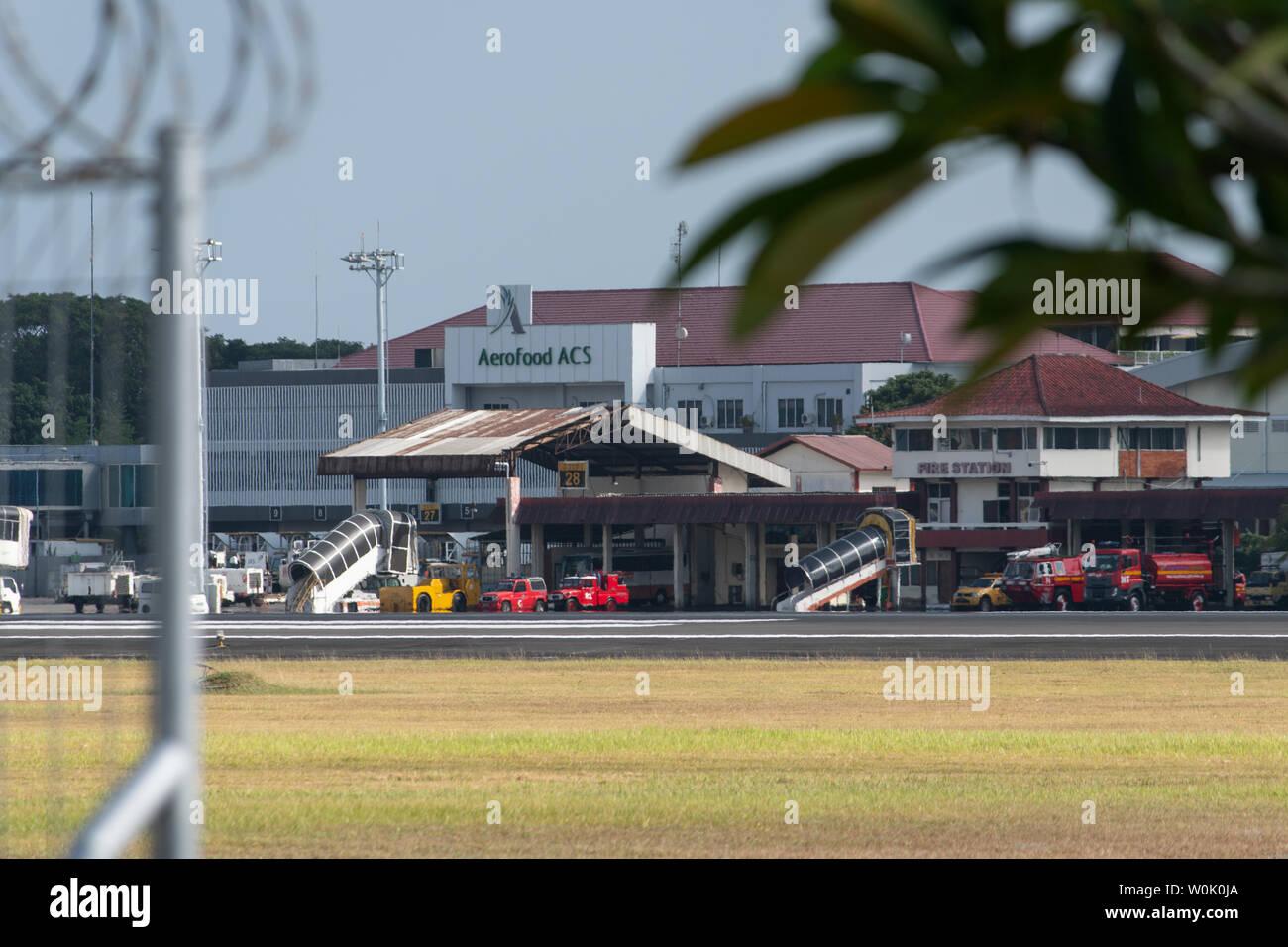 Denpasar Bali Airport Entrance Indonesia Stock Photos