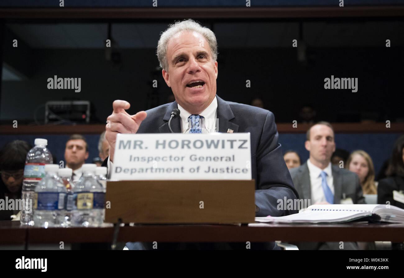 Michael Horowitz, Inspector General of the Justice Department