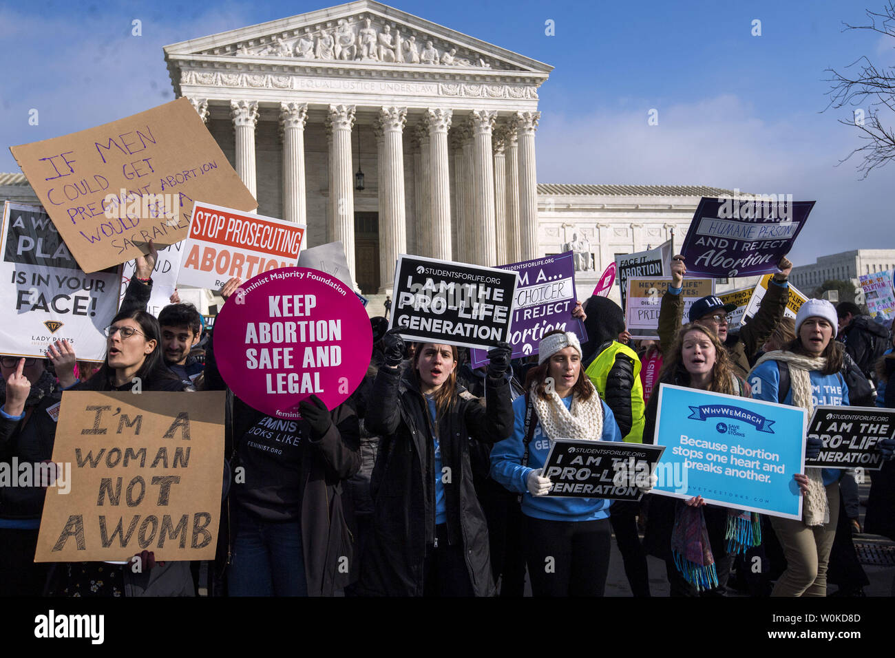 Pro-choice and anti-abortion activist square off at the