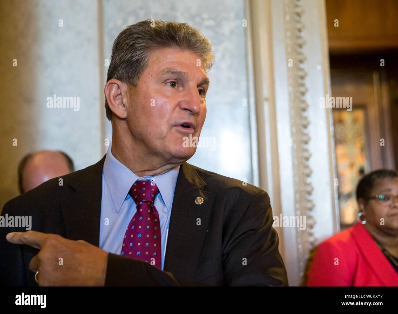 Sen  Joe Manchin (D-WV) leaves the senate floor after a vote