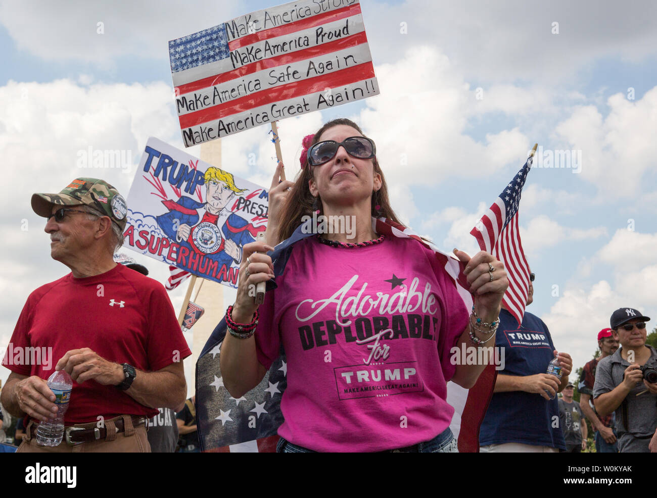 Pro-trump supporters rally on the National Mall during the 'Mother of All Rallies' event in Washington, DC on September 16, 2017. The event was held to show support for President Trump and his agenda. Photo by Erin Schaff/UPI Stock Photo
