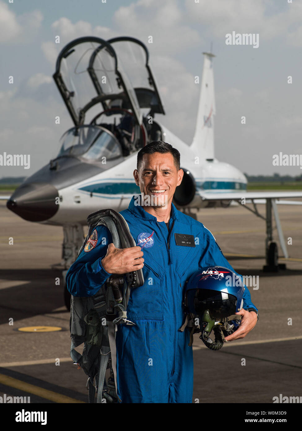 Dr. Frank Rubio has been selected by NASA to join the 2017 Astronaut Candidate Class. He will report for duty in August 2017. The Florida native graduated from the U.S. Military Academy and earned a Doctorate of Medicine from the Uniformed Services University of the Health Sciences. NASA Photo by Robert Markowitz/UPI - Stock Image