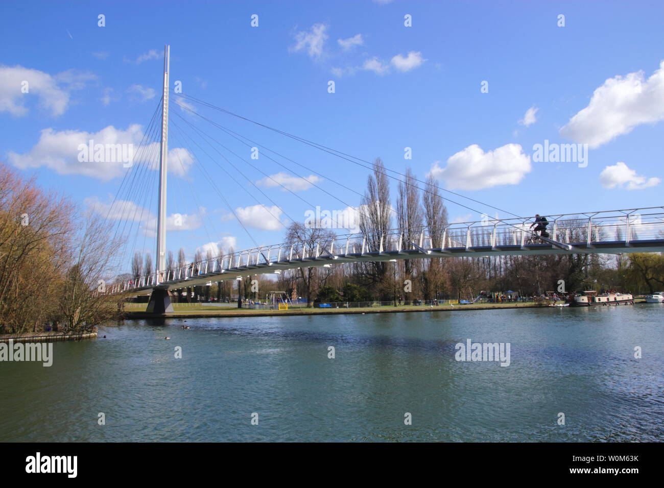 Christchurch Bridge over River Thames Reading Berkshire Stock Photo