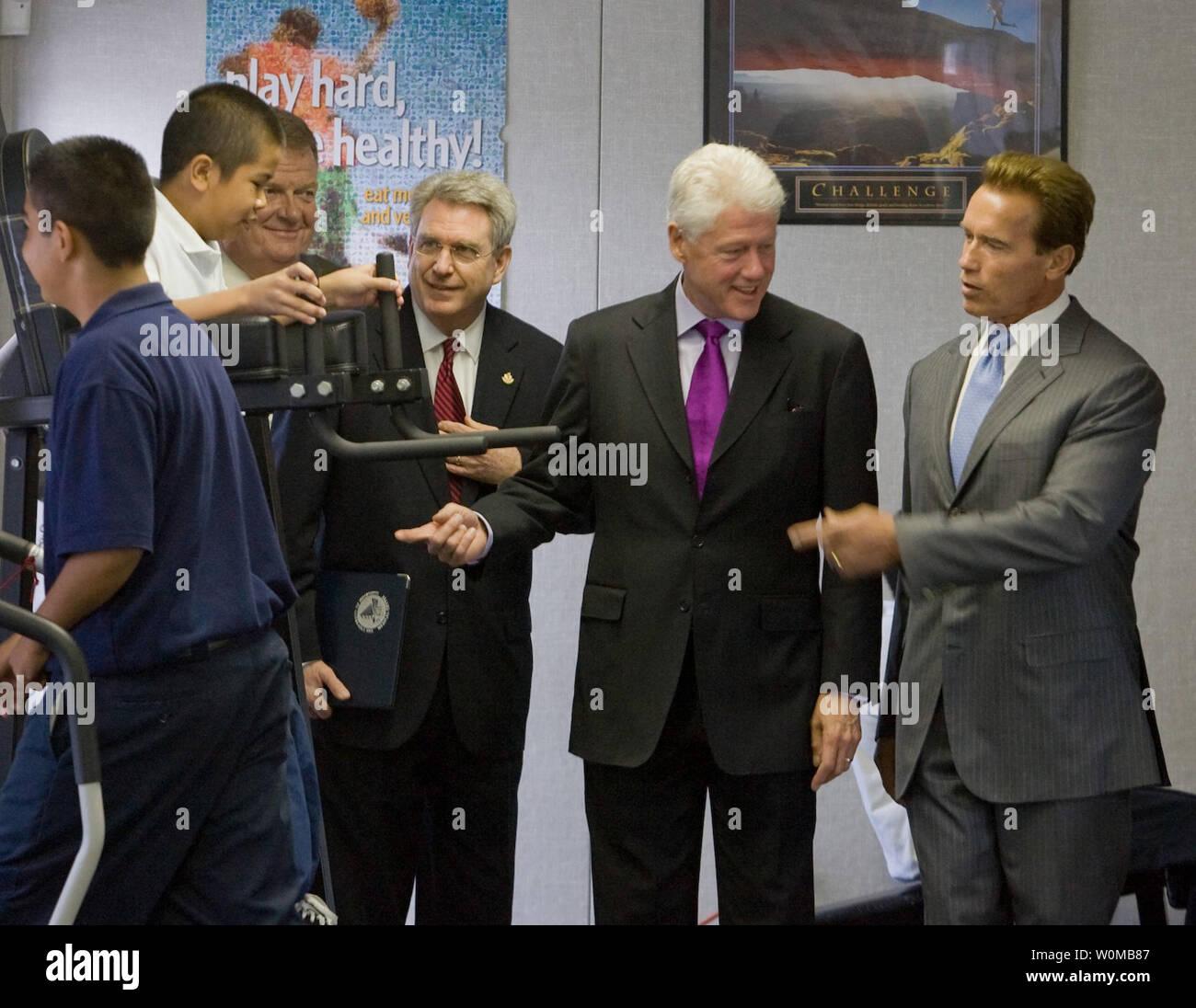 Gov Arnold Schwarzenegger California Middle Stock Photos
