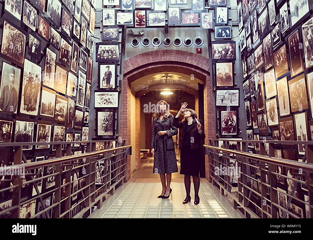 "First Lady Melania Trump is pictured visiting the Holocaust Museum in Washington, D.C., on January 25, 2018. Accompanying the photographs she posted on Twitter, the president's wife wrote, ""Thank you @HolocaustMuseum for a powerful & moving tour that honors the millions of innocent lives lost, and educates us on the tragedies and effects of the holocaust.  Photo via FLOTUS/Twitter Stock Photo"
