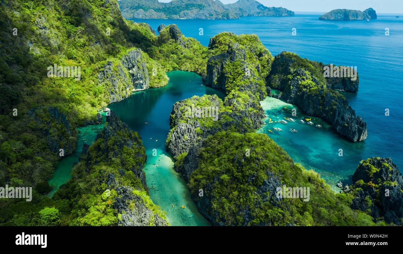 El Nido Palawan The Philippines Aerial View Of Big Lagoon