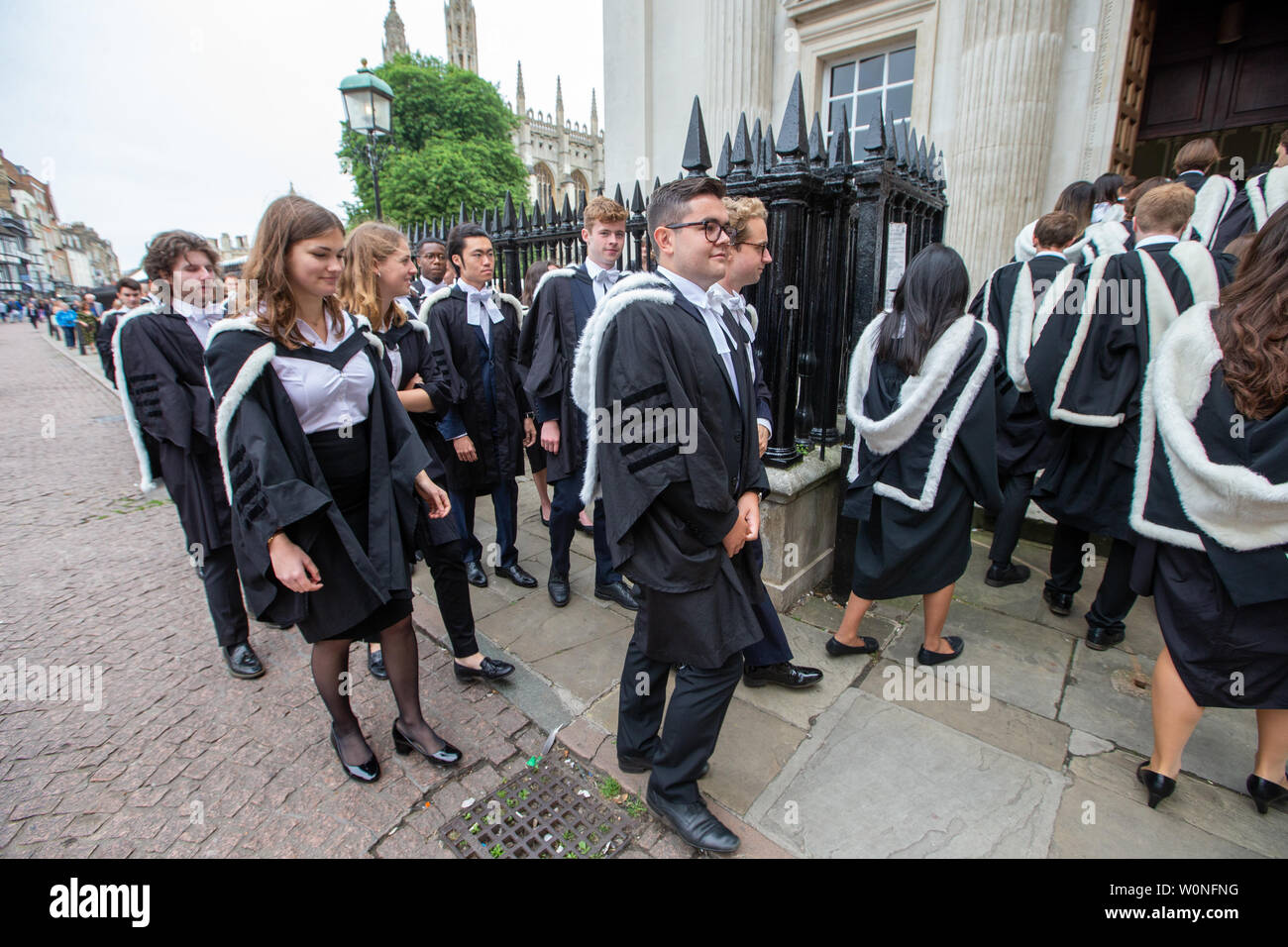 Cambridge University Students From St John S College On The First