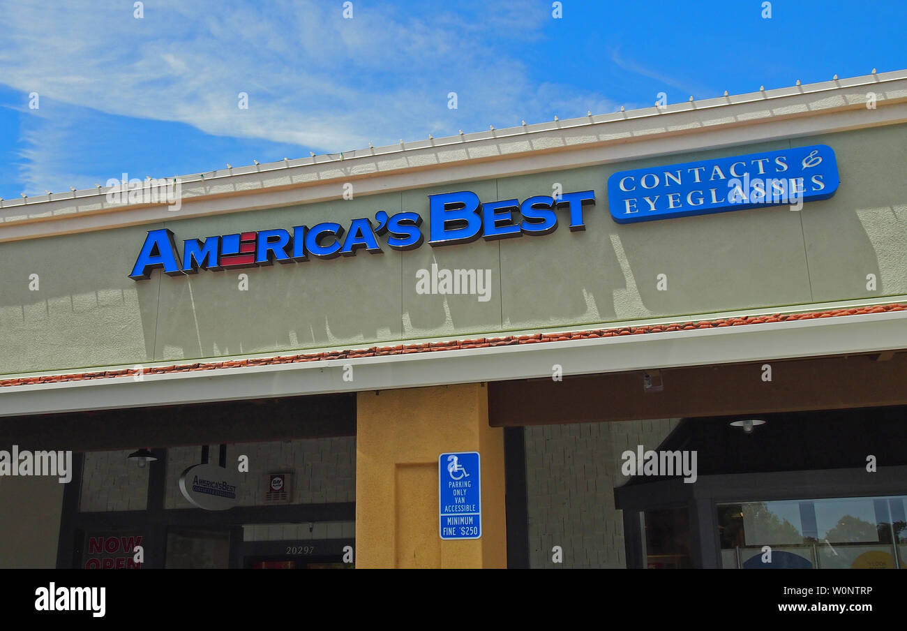 83722fa5 America's Best contacts and eyeglasses store in Castro Valley, California -  Stock Image