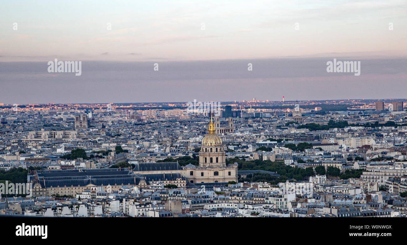 View from the Eiffel Tower Paris France Stock Photo