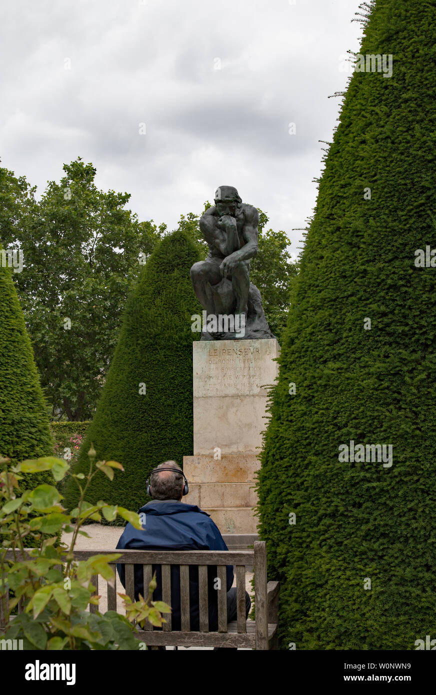Sculptures In The Garden At The Rodin Museum In Paris France Stock
