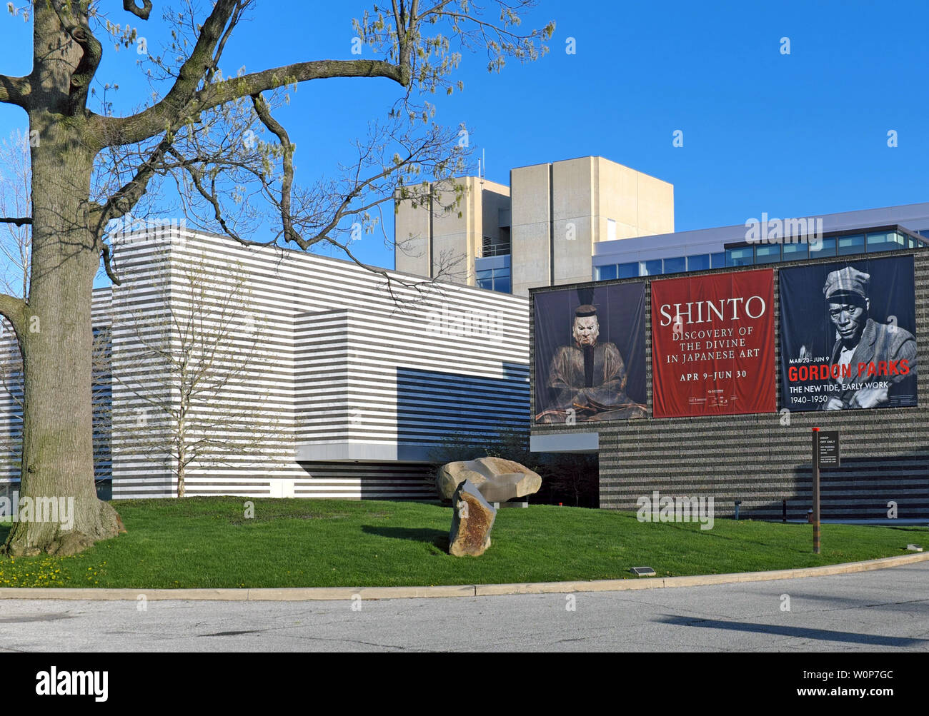 The Cleveland Museum of Art in the Wade Park District of Cleveland, Ohio, USA. Stock Photo