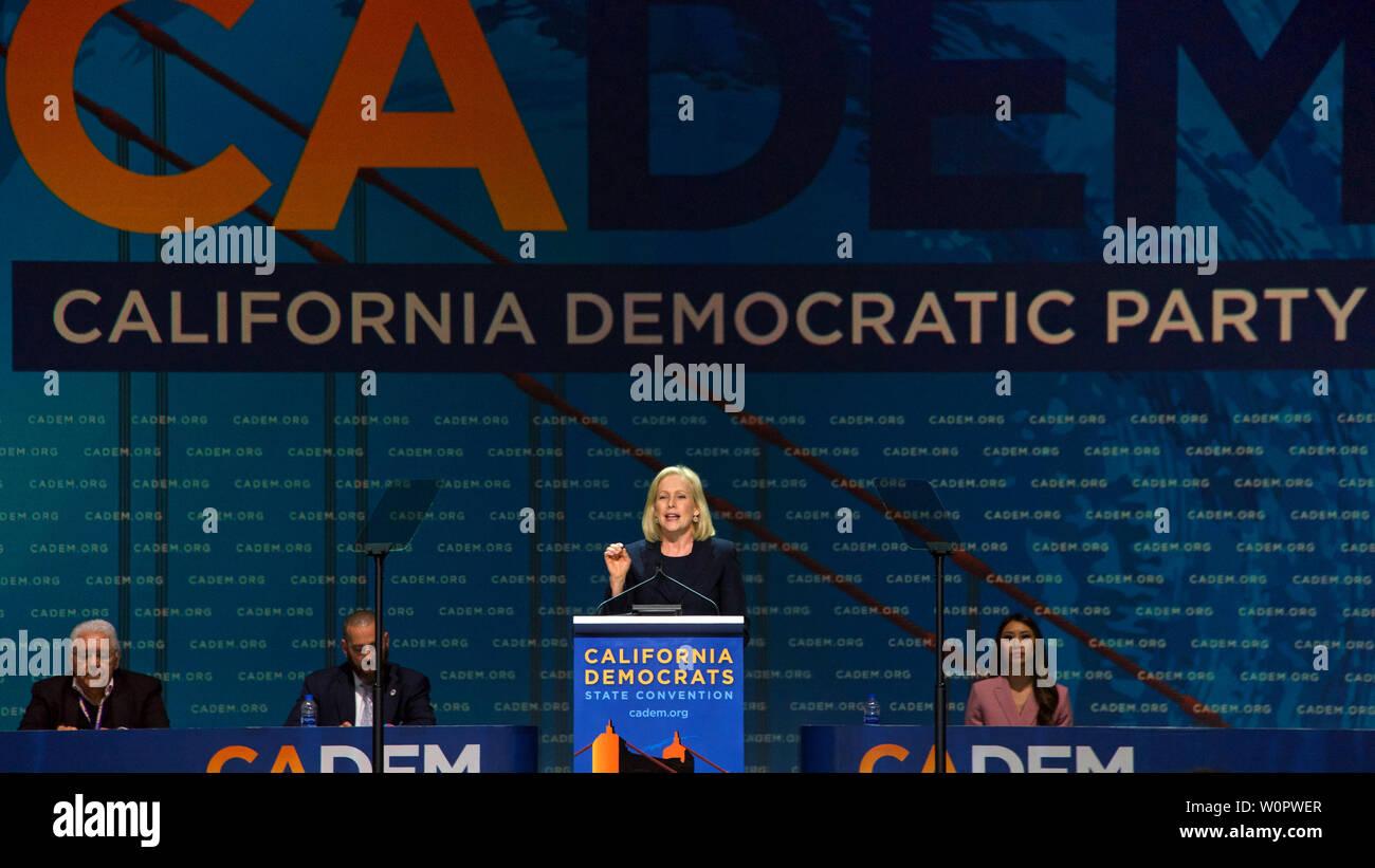 San Francisco, CA - June 01, 2019: Presidential candidate
