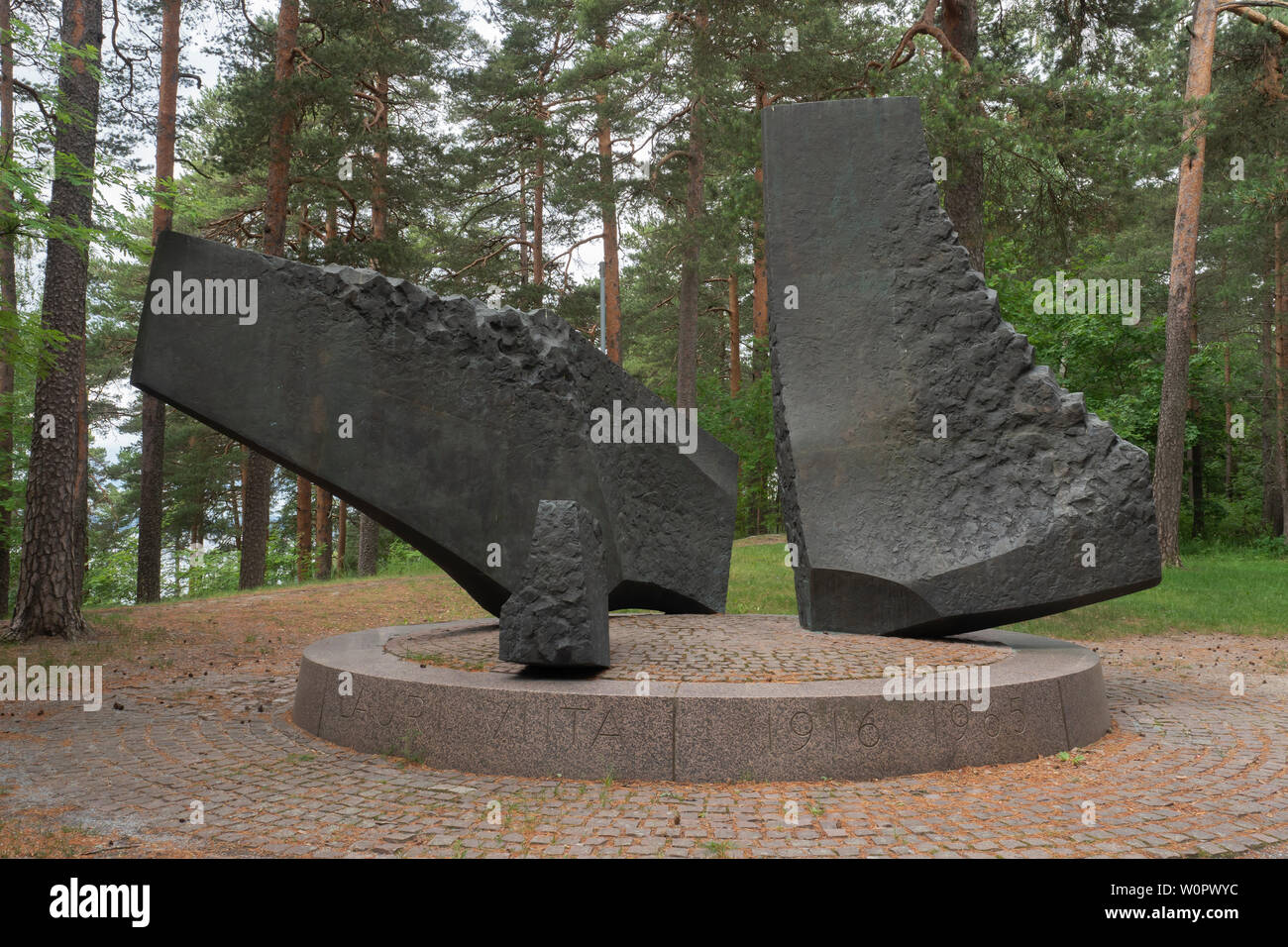 Monument of the Poet Lauri Viita on Pispala Ridge in Tampere Finland - Stock Image
