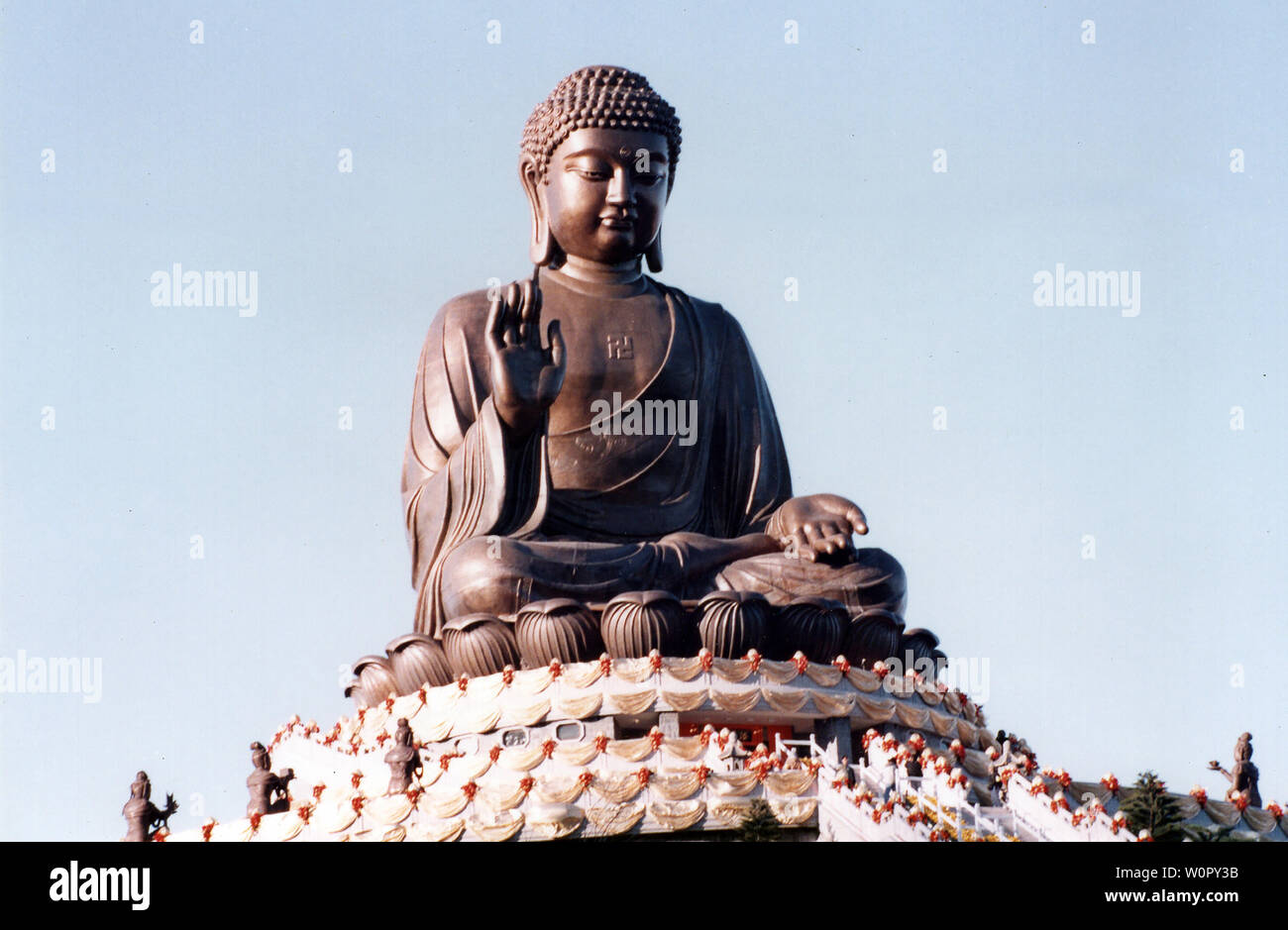 the archive picture of  Tian Tan Buddha, also known as the Big Buddha in 90s - Stock Image