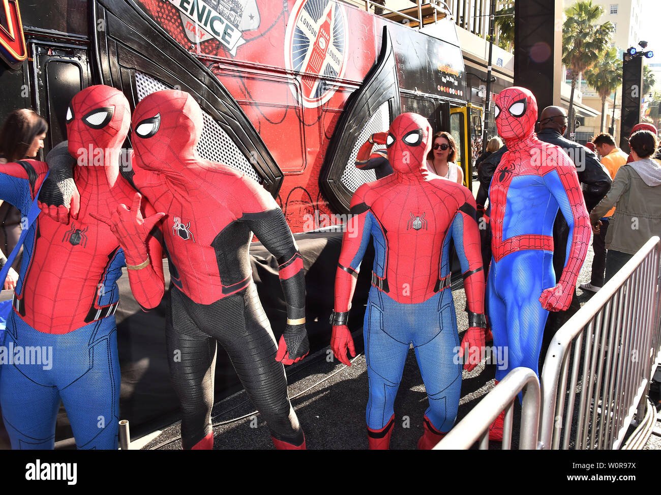 "HOLLYWOOD, CA - JUNE 26: Atmosphere at the premiere of Sony Pictures' ""Spider-Man Far From Home"" at TCL Chinese Theatre on June 26, 2019 in Hollywood, California. Stock Photo"