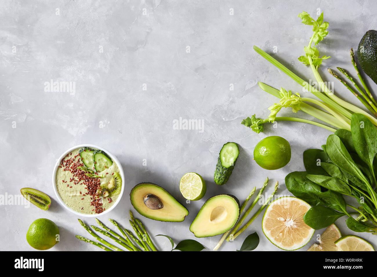 green smoothie - Stock Image